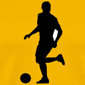 Soccer football player silhouette 9 - Men's Premium T-Shirt