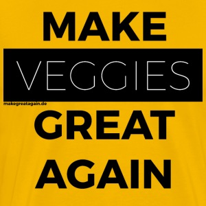 MAAK VEGGIES GREAT AGAIN zwart - Mannen Premium T-shirt
