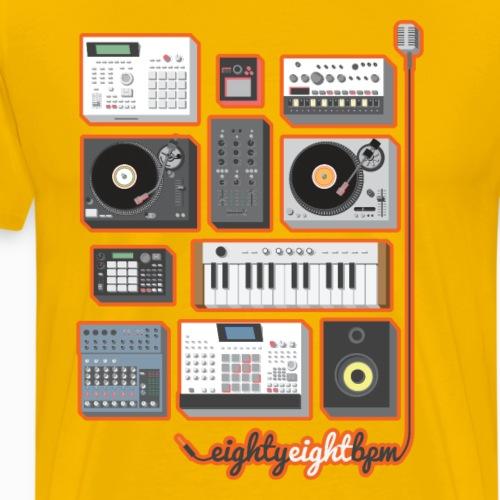 88 BPM Full Set (orange/yellow) - Men's Premium T-Shirt