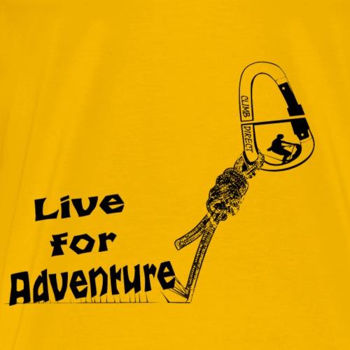 Live for adventure black - Men's Premium T-Shirt