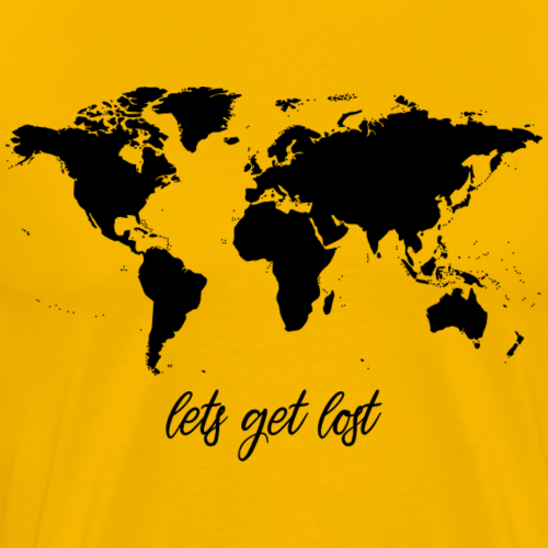 Lets Get Lost Worldmap - Männer Premium T-Shirt