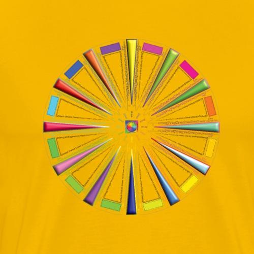 Quadratur des Farbkreises - Männer Premium T-Shirt