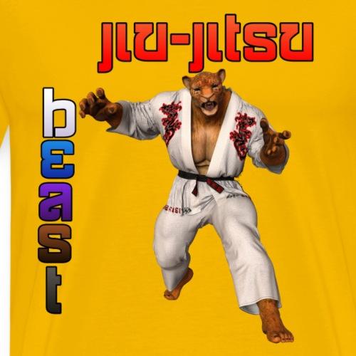 Jiu-Jitsu Beast Jaguar - Men's Premium T-Shirt