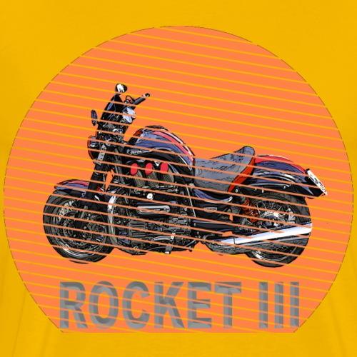 Rocket III Roadster Custom – Sun - Sonne - Männer Premium T-Shirt