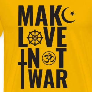 Make Love Not War - Premium T-skjorte for menn