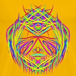 face trippy abstract psychedelic colorful - Männer Premium T-Shirt