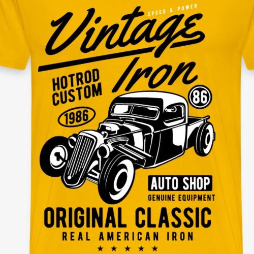 HOTROD COSTUM - Vintage Hotrod Geschenk Car Shirt - Männer Premium T-Shirt
