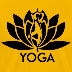 ++ ++ Yoga Flower - Premium-T-shirt herr