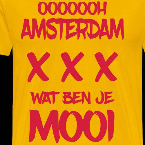 ooooh Amsterdam wat ben je mooi - Mannen Premium T-shirt
