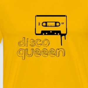 disco queen Music cassette 80s Retro Girl dancing - Men's Premium T-Shirt