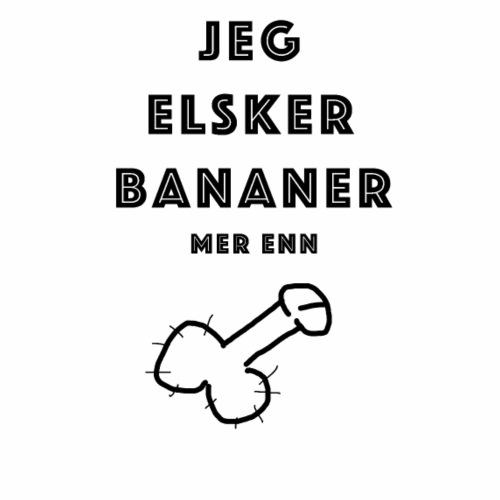 Bananni - Premium T-skjorte for menn
