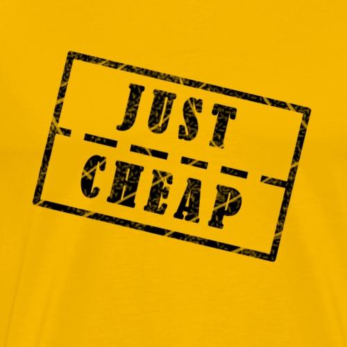 Just Cheap Schwarz - Männer Premium T-Shirt