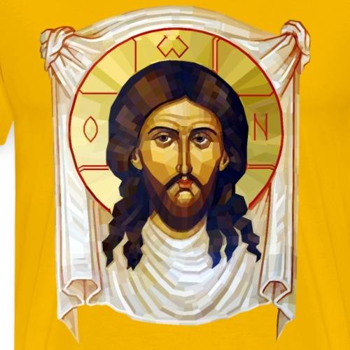 Low-Poly Jesus Icon - Men's Premium T-Shirt