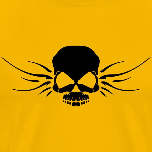 skull with wings - Men's Premium T-Shirt