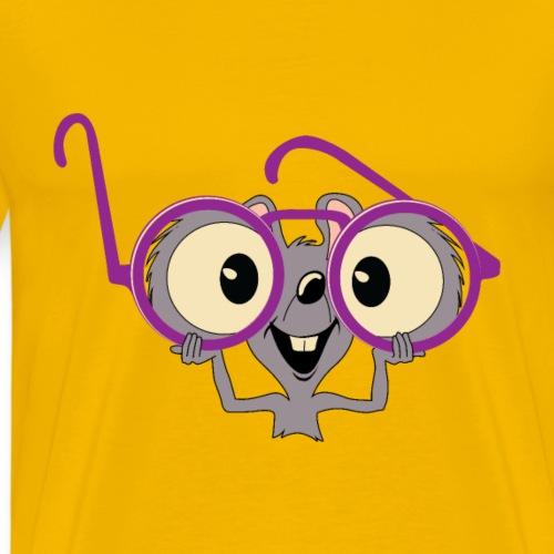 Maus Brille Violett Geschenk - Männer Premium T-Shirt