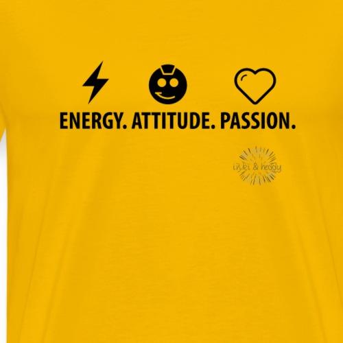Energy.Attitude.Passion. - Männer Premium T-Shirt