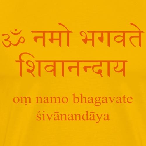 Om Namo Bhagavate Sivanandaya - Männer Premium T-Shirt