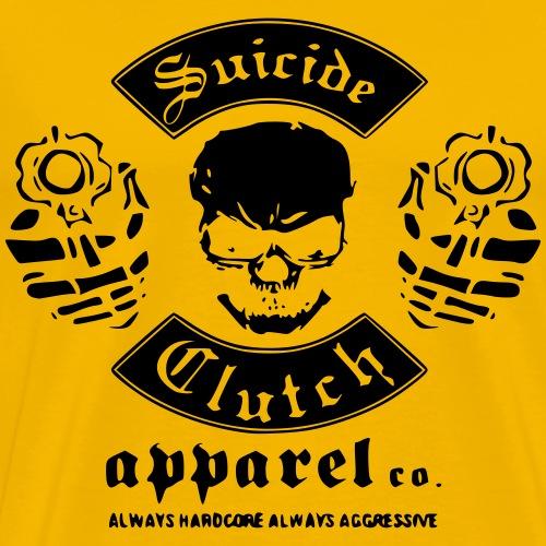 skull with gun vector tshirt design - Männer Premium T-Shirt