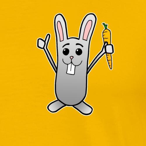 Hase Karotte Comic Baby Kinder süß Geschenk - Männer Premium T-Shirt