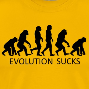 ++ ++ Evolution Sucks - Premium T-skjorte for menn