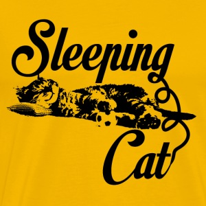 Sleeping cat black - Männer Premium T-Shirt