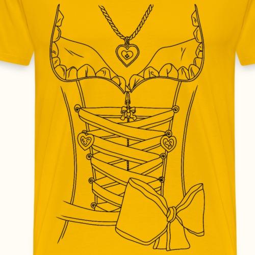 Dirndl - Schwarz - Männer Premium T-Shirt