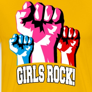 Girls Rock! For Strong Women - Men's Premium T-Shirt