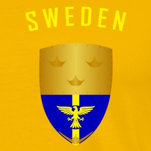 SVERIGE CROWNS SHIELD - Premium T-skjorte for menn