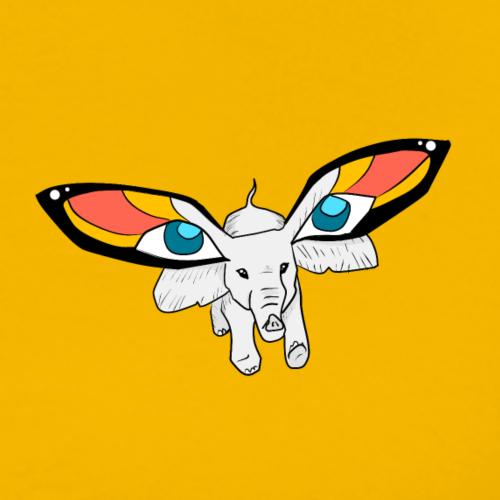 Butterfly Elefant - Männer Premium T-Shirt