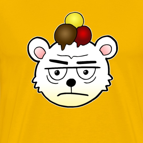 Eisbär Eiscreme Eis Sommer Comic Geschenk - Männer Premium T-Shirt
