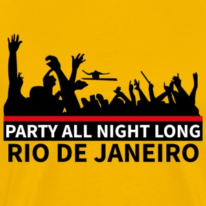 RIO DE JANEIRO - Party All Night Long - Men's Premium T-Shirt