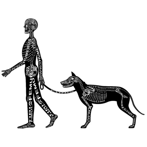 Menschen- und Hunde-Skelett - Männer Premium T-Shirt