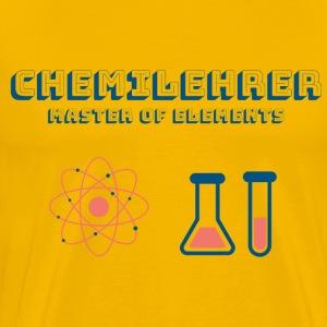 Chemielehrer Master of Elements - Männer Premium T-Shirt