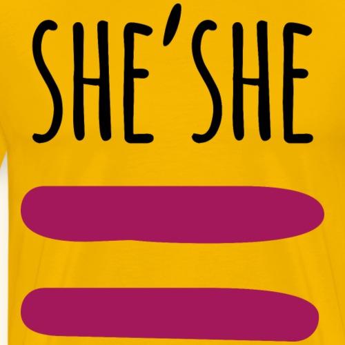 she'she - Camiseta premium hombre