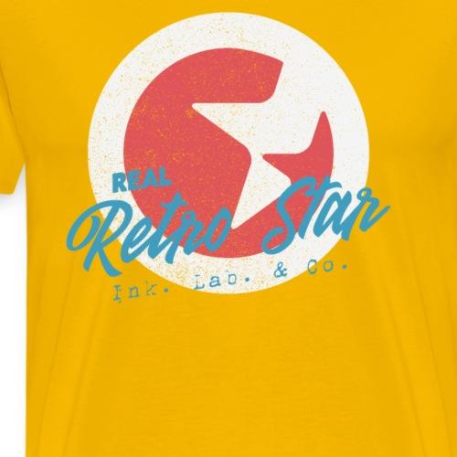 Retro Inspiriertes Stern Design Real Retro Star - Männer Premium T-Shirt