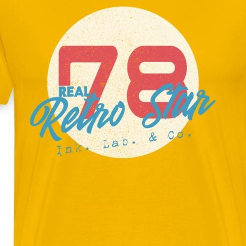 1978 Retro Inspiriertes Stern Design Retro Star - Männer Premium T-Shirt