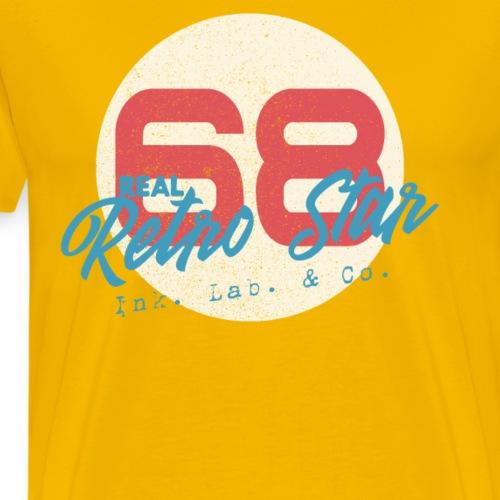 1968 Retro Inspiriertes Stern Design Retro Star - Männer Premium T-Shirt