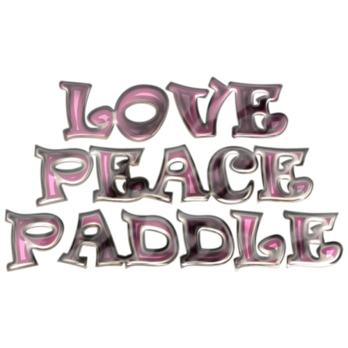 LOVE PEACE PADDLE PINK - Männer Premium T-Shirt