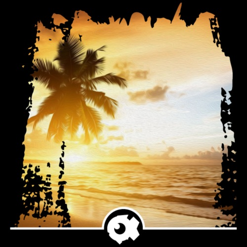 Strand mit Palme - Männer Premium T-Shirt