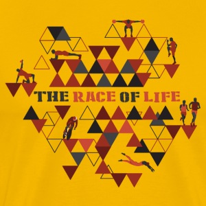 TheRaceOfLife - Herre premium T-shirt