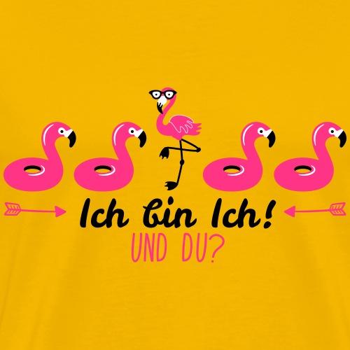 ICH BIN ICH - UND DU? Flamingo | Das bunte Zebra - Männer Premium T-Shirt