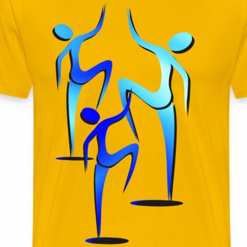 Trío siluetas - Camiseta premium hombre