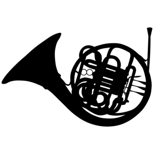 Trompa en negro - Camiseta premium hombre