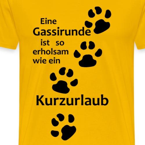 Hundesprüche,Hundebesitzer,Hundehalter,Hundeliebe - Männer Premium T-Shirt
