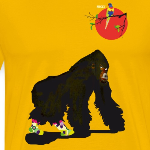 Affe und Papagei - Männer Premium T-Shirt