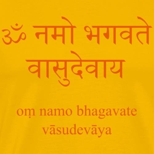 Om Namo Bhagavate Vasudevaya - Männer Premium T-Shirt
