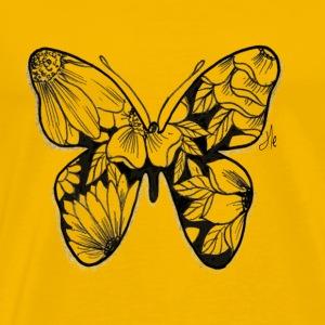 butterfly farfalla di fiori - Maglietta Premium da uomo