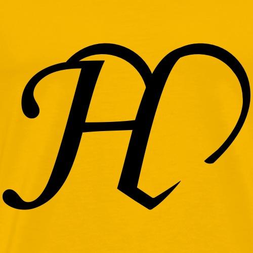 Herz Buchstabe H - Männer Premium T-Shirt
