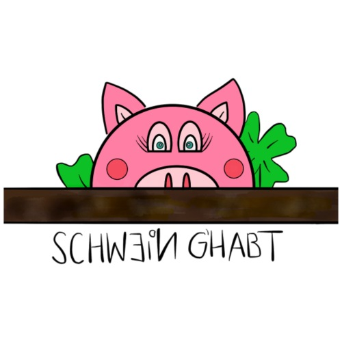 Schwein g'habt! - Männer Premium T-Shirt