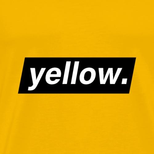 Yellow. - T-shirt Premium Homme